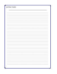 Lined Paper Templates 4 Professional Word Pdf Samples