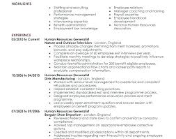Sample Hr Generalist Resume Hr Resume Sample Human Resources