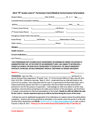 Youth Group Permission Slip Template Forms - Fillable & Printable ...