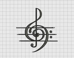 Treble Clef Music Music Art Treble Clef Musical Note Embroidery Design In 2x2 Etsy
