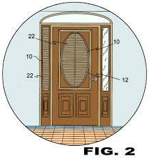 portable oval shapes blind for doors
