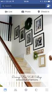 Stairway Pictures, Hallway Pictures, Basement Stairs, Basement Ideas,  Frames Ideas, Wall Ideas, Stair Walls, Wall Collage, Gallery Wall
