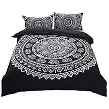 black and white bed covers. Simple White Moreover Black Bohemian Bedding And White Duvet Cover Set  Elephant Floral Printed Boho Sets Queen 90 Throughout And Bed Covers C