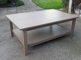 ikea wooden coffee table with shelf