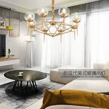 contemporary design plating led metal glass chandelier european style pendant lamp