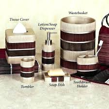 Red Bathroom Sets Black Red Bathroom Accessories White And Set Best