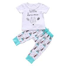 <b>2019 Cute Newborn Infant</b> Baby Boy Girls Fox T shirt Tops+Floral ...