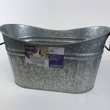 details about better homes and gardens galvanized steel long oval scooped tub new