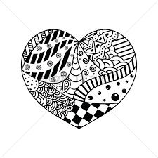 decorative heart design vector graphic