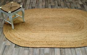 more views casuals natural fibers oval natural jute braided area rug carpet durable