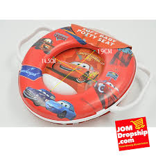Disney Cartoons Baby Children Soft Potty Toilet Seat With Handle