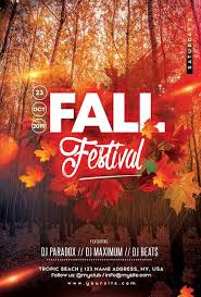 Fall Festival Flier Fall Festival Party Free Flyer Template Freebie Freepsdflyer
