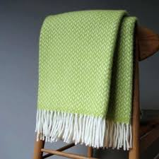lime green throw blanket chenille throws cotton for sofas