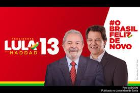 Resultado de imagem para Imagens de propaganda irregular  de Lula como candidato