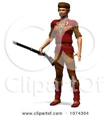 pioneer man clipart. clipart 3d pioneer mountain man with a rifle 1 - royalty free cgi illustration by ralf61