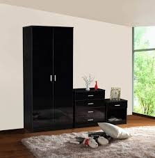white wood bedroom furniture set black high gloss drawers childrens and