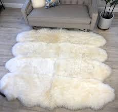 large sheepskin rug octo