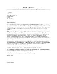 13 Customer Service Representative Cover Letter Sample Shawn