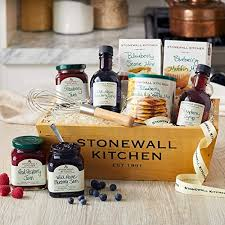 stonewall kitchen berry breakfast gift basket 9 piece wood gift box set