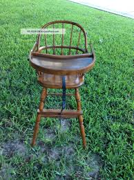 antique vintage wooden 1930 nichols stone windsor baby high chair very rare