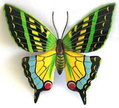 butterfly garden decor painted metal butterfly wall hanging outdoor metal art tropical decor on large metal garden wall art with butterfly metal garden wall decor painted metal butterflies