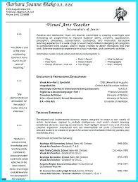 Career Objective For Teacher Resumes Visual Art Teacher Resume Examples Free Templates Career Objective