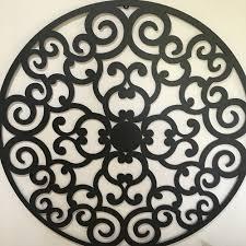 round metal wall decor diy black metal wall
