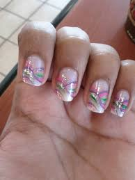 Pink Purple And Silver Nail Designs Pink And Silver Nail Designs Nail Designs Hair Styles