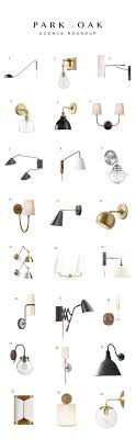 bedroom wall sconce lighting. Park And Oak Sconce Roundup | @siangabari Bedroom Wall Lighting A