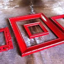 Red Photo Frames Red Picture Frames Rustic Frames Devchatki Club