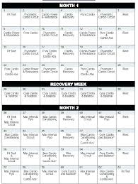 Insanity Calendar Excel Insanity Schedule Excel Free Construction