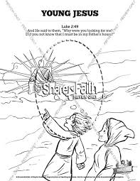 Jesus As A Child Sunday School Coloring Pages Sunday School