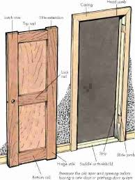 cost to install exterior door frame replacing jamb replace outside height chart