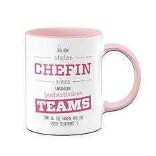 Tasse Stolze Chefin Eines Fantastischen Teams Geschenke Für Chefin