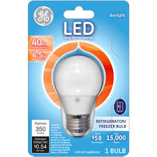 Blue Light Bulbs Walmart Ge 40w Equivalent Uses 4 5w Daylight A15 Led Appliance Bulb Bulb Walmart Com