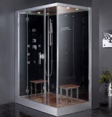 Modular steam showers are great for those who want to save space and save  time on installation, which is why this Ariel Platinum DZ961F8-BLK-L Steam  Shower ...