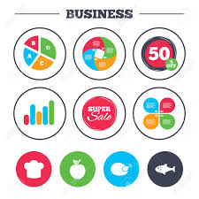 Growth Of A Chicken Chart Business Pie Chart Growth Graph Food Icons Apple Fruit With