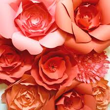 large paper flowers by paperflora c peach wedding flowers paper flowers for events and