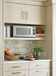 microwave and cook book shelf