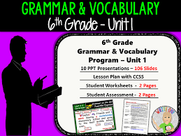 DAILY GRAMMAR & VOCABULARY PROGRAM - 6th Grade - Standards Based ...