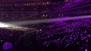 Bts Army Bomb Ocean Turned Into Purple Hearts At Love Yourself Tour In Japan Day 2