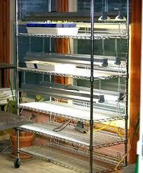 grow lights light shelves diy