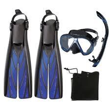 Atomic Aquatics Aquatics Scuba Diving Dry Mask <b>Split</b> Fins Snorkel ...