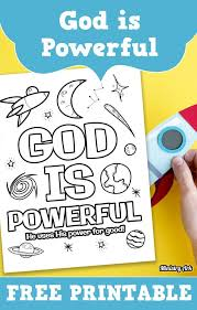 Check out our god is omnipotent selection for the very best in unique or custom, handmade pieces from our shops. God Is Powerful Printable Ministryark Sunday School Printables Sunday School Preschool Sunday School Projects