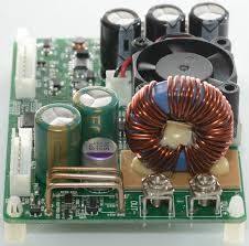 test of power supply dps5015 there is no parts on the other side of the circuit board