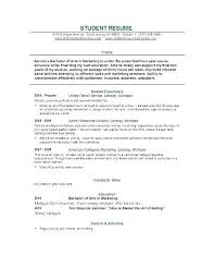 Resume Examples College Graduate Nfcnbarroom Com