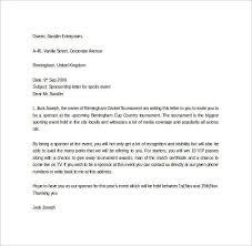 Sports Sponsorship Letter. Sponsor Request Letter Template ...
