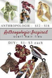 diy anthropologie inspired scarf hair
