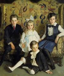harrington mann a family portrait of four children painting is shipped worldwide including stretched canvas and framed art this harrington mann a family