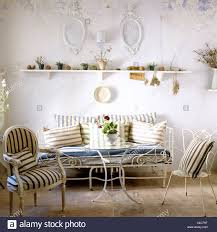 Wrought Iron Living Room Furniture Living Room With Whitewashed Walls Wrought Iron Furniture And